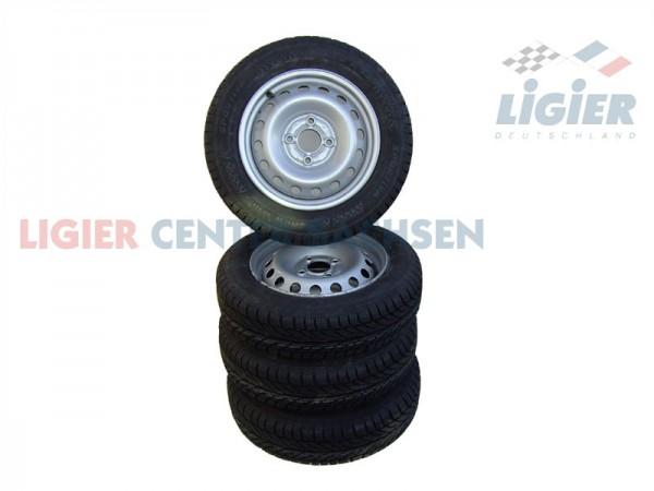 Ligier Winterräder Komplettsatz, 4 Reifen + 4 Felgen